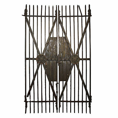 Substantial Pair of Antique Iron Gates, Late 1800s NG11