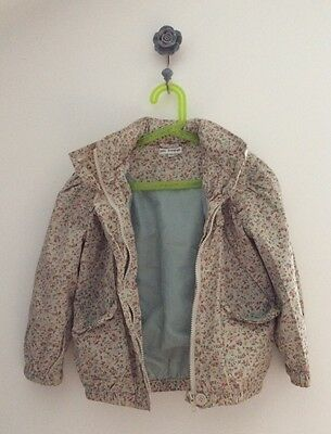 M&S AUTOGRAPH Ditsy Floral Raincoat With Fold Away Hood age 6/7
