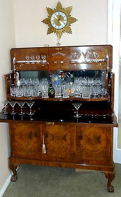 Stunning Art Deco Burr Walnut Cocktail Cabinet  from Maples in London