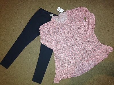 BNWT Next Girls Top & Leggings Set Size Age 10 Years Rrp £22
