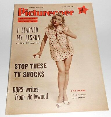 Picturegoer Film Magazine date August 18th 1956 - Una Pearl on cover pic