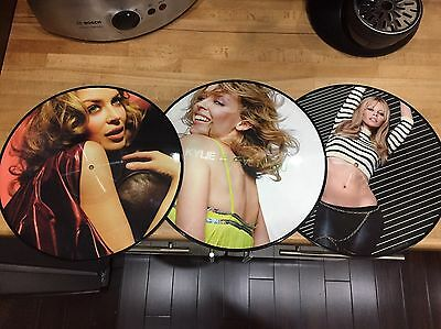 "KYLIE MINOGUE PICTURE DISC LPs / 12"" SINGLES"