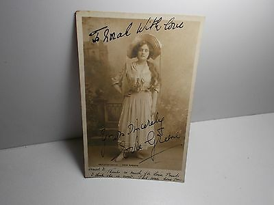 English Edwardian Stage Actress Evie Greene  Signed Rp Postcard  1903