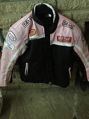 Girls Motorbike Jacket With Removable Protection Padding Size 8/9/ 10 Years