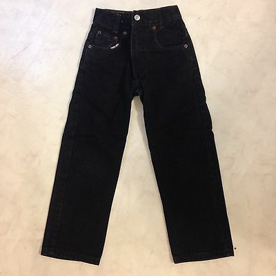 Kids Size 7 Levi's 550 Jeans Relaxed Fit Color Black