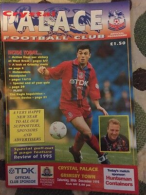 Crystal Palace v Grimsby Town Programme Division One 30 December 1995