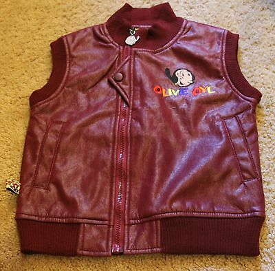 Vintage Olive Oyl Popeye Kids Youth Size 5 Vest ! Rare Hard to Find +