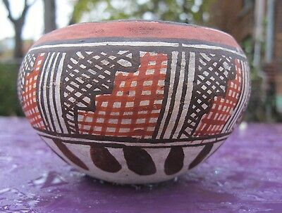 Antique1930s , Isleta pottery bowl, A true Antique in native pottery.