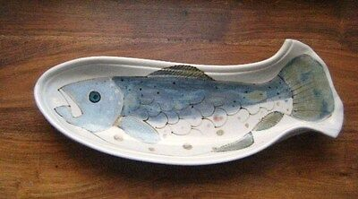 Beautiful Highland Stoneware Fish Serving Dish / Wall Plaque Excellent Condition