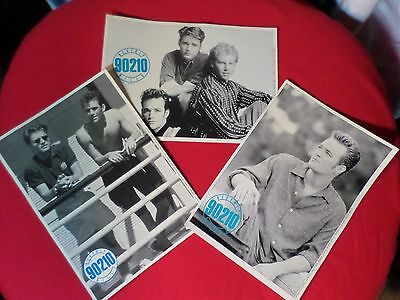 Beverly Hills 90210 Photo's (Set Of 3) 1991 Black And White Vintage Pre-Owned