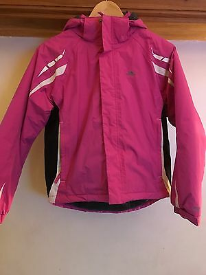 Girls Trespass Pink Ski Jacket 11-12yrs Excellent Condition