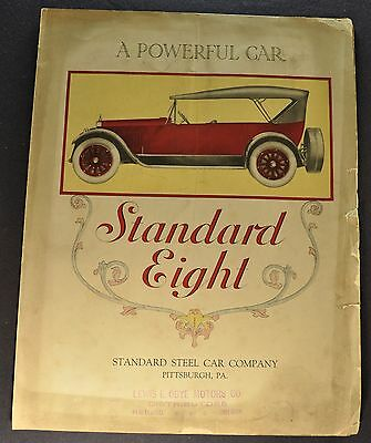 1921 Standard Eight Model I Sales Brochure Folder Original 21
