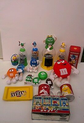 Large Lot of M&M Collectibles Tins, Plush, Tray, Candy  Dispensers, Figures