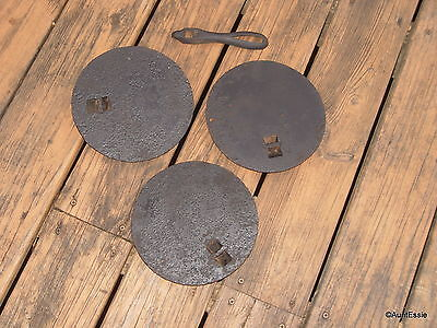 Antique Cast Iron Stove Parts Eyes and Handle