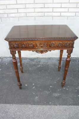 Gorgeous Antique French Louis XV Heavily Carved Walnut Console Table, 19th C.