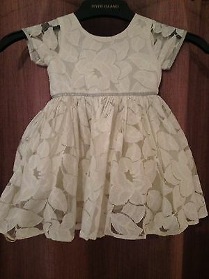 Girls White Dress 9-12 Months From NEXT Party Christmas Christening