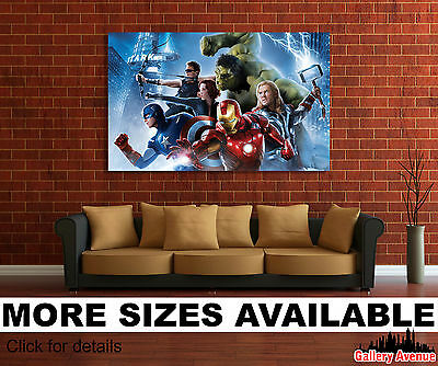Wall Art Canvas Picture Print - Avengers 2 Iron Man Captain America, Thor 3.2