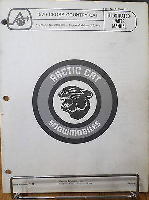 1976 Arctic Cat Cross Country Cat Snowmobile Parts Manual