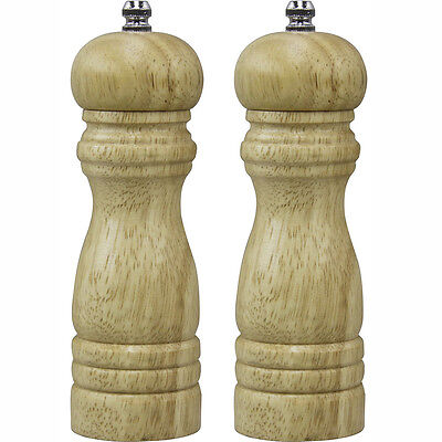 2x CHEF INOX SALT AND PEPPER GRINDER SET  QUALITY WOODMILL SHAKERS