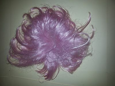 Wild, tangled crop pink punky wig. Ideal for Halloween & Fancy Dress. Adult Wig.