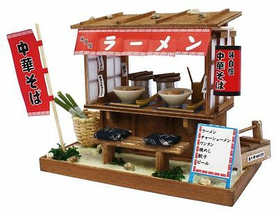 New Billy Handmade Doll house kit Showa Ramen shop stand Assembly Kit from Japan