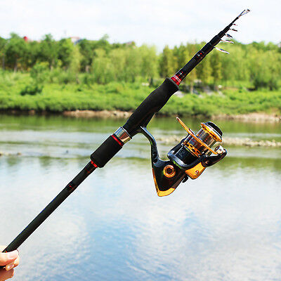 Ultra-light Fishing Rod Combos Pole with Left/right Hand Spinning Fishing Reel