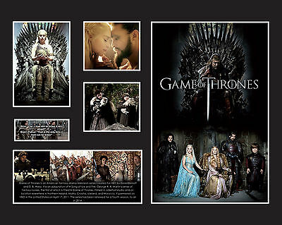 """Game Of Thrones Memorabilia 16x20"""" Black/White Limited Edition FRAMED"""