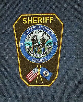Culpeper County Sheriff, Virginia, Patch, Police  (Straight letters)
