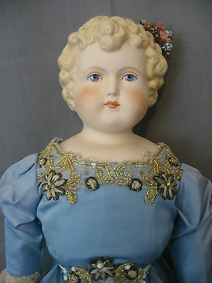 Emma Clear Doll - 1948 - China Parian Doll - Marked