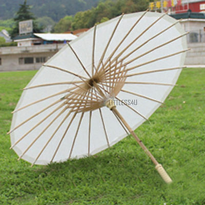 Chinese Paper Umbrella Parasol Brolly Dance Cosplay Craft Yellow/Green Retro New