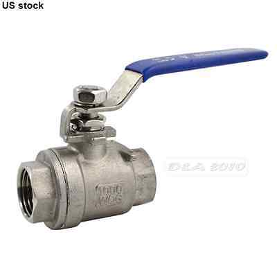 "1/2"" NPT Full Port Ball Valve Vinyl Handle Female Stainless Threaded CF8M SS 316"