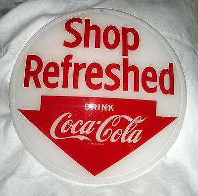 Coca-Cola Plastic Button Point of Purchase Sign