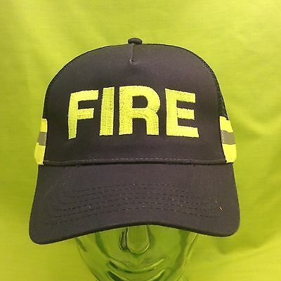 NEW FIRE Department Rescue Navy Blue Hi Vis Reflective Safety Hat Cap
