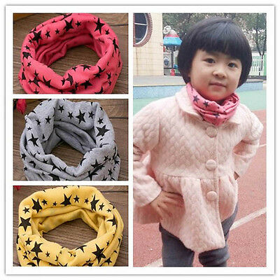 Cute Kids Infinity Loop Scarves 100% Cotton Star Print Neck Scarf Boys and Girls