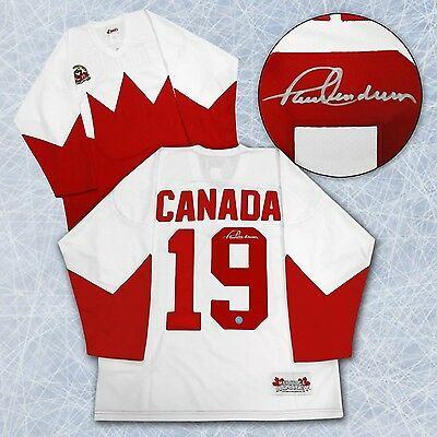 Paul Henderson Team Canada Autographed 1972 Summit Series White Hockey Jersey