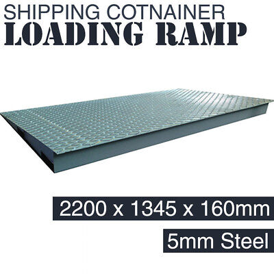 Shipping Container Loading Ramp - 8 Tonne Capacity - Fork Lift Steel Platform