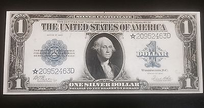 1923 $1 One Dollar STAR Note Silver certificate UNCIRCULATED * RARE UNC