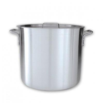 Stockpot with Cover / Lid, 90L, Aluminium Reinforced Rim, Commercial Stock Pot
