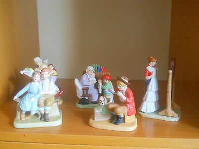 Lot of 5 Pieces 1989 Norman Rockwell Figurines Danbury Mint