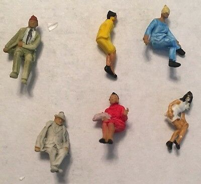 Preiser 9203  N scale Seated People Vintage N Gauge