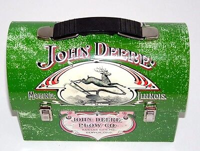 John Deere Licensed Product Plow CO Lunch Box  1904 Farmers Companion  Collector