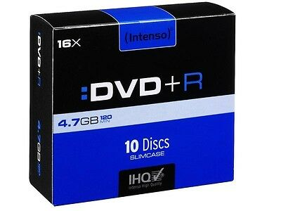 Pack de 10 DVD+R 4.7 GB 16x Speed Intenso (Slim Case)