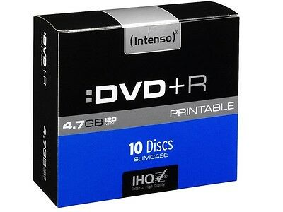 Pack de 10 DVD+R 4.7 GB 16x Speed Intenso imprimable (Slim Case)