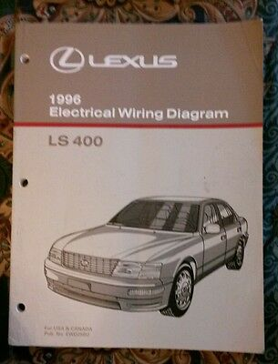 1996 LEXUS LS400 LS 400 ELECTRICAL WIRING DIAGRAM Service Repair Manual