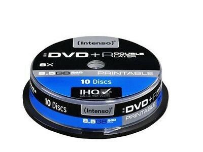 Pack de DVD+R 8.5 GB DL Double Layer 8x Speed  Intenso