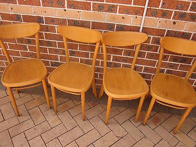 4 X  MENIKOV Bentwood Dining Cafe Chairs,