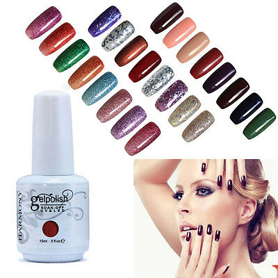 15ML Art UV Gel Soak Off Polish Esmaltes de uñas Manicure Top Base Coat 141-204