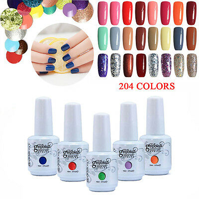 15ML Art UV Soak Off Esmaltes de uñas Gelpolish Manicure Top Base Coat 001-070