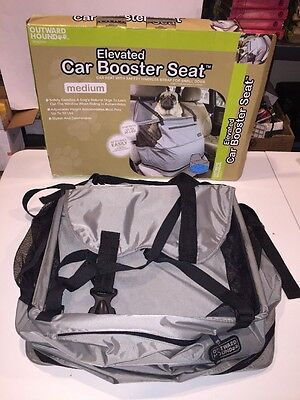 Pet Dog Cat Booster Car Seat OUTWARD HOUND up to 30 lb. w/ Blow-Up Cushion EXC
