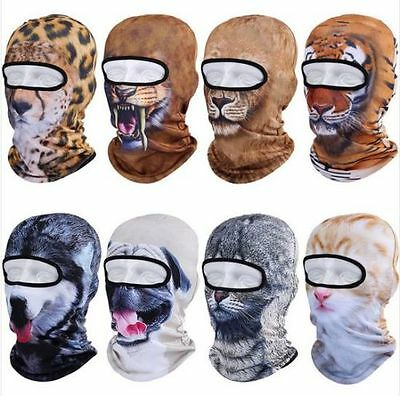 3D Cute Animal Outdoor Skis Hat Balaclava Sports Cat Dog Tiger Full Face Mask